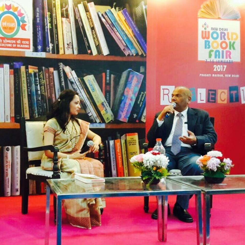 Anupama Garg with Dr. Vikram Singh, ex DGP U.P., Vice-chancellor Noida University