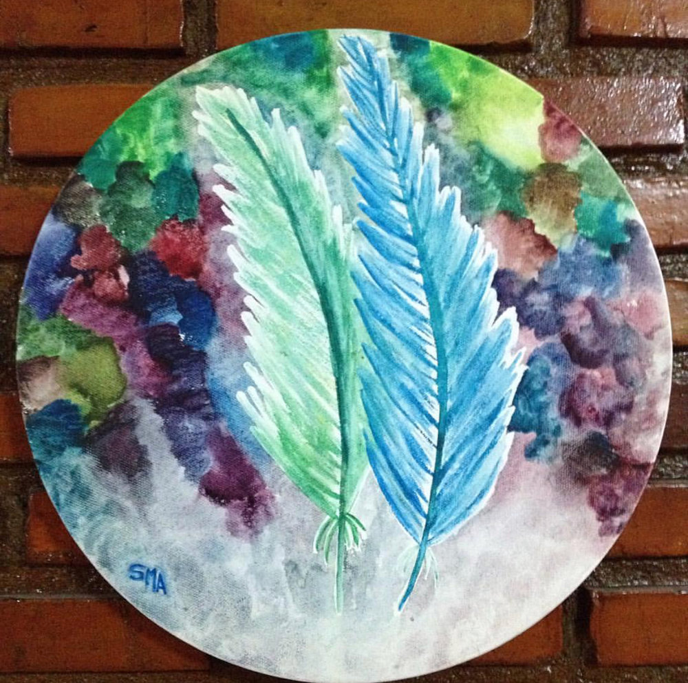 Your Favorite Colors   Watercolor on Canvas 40cm Circular Canvas THB 3,900 - SOLD