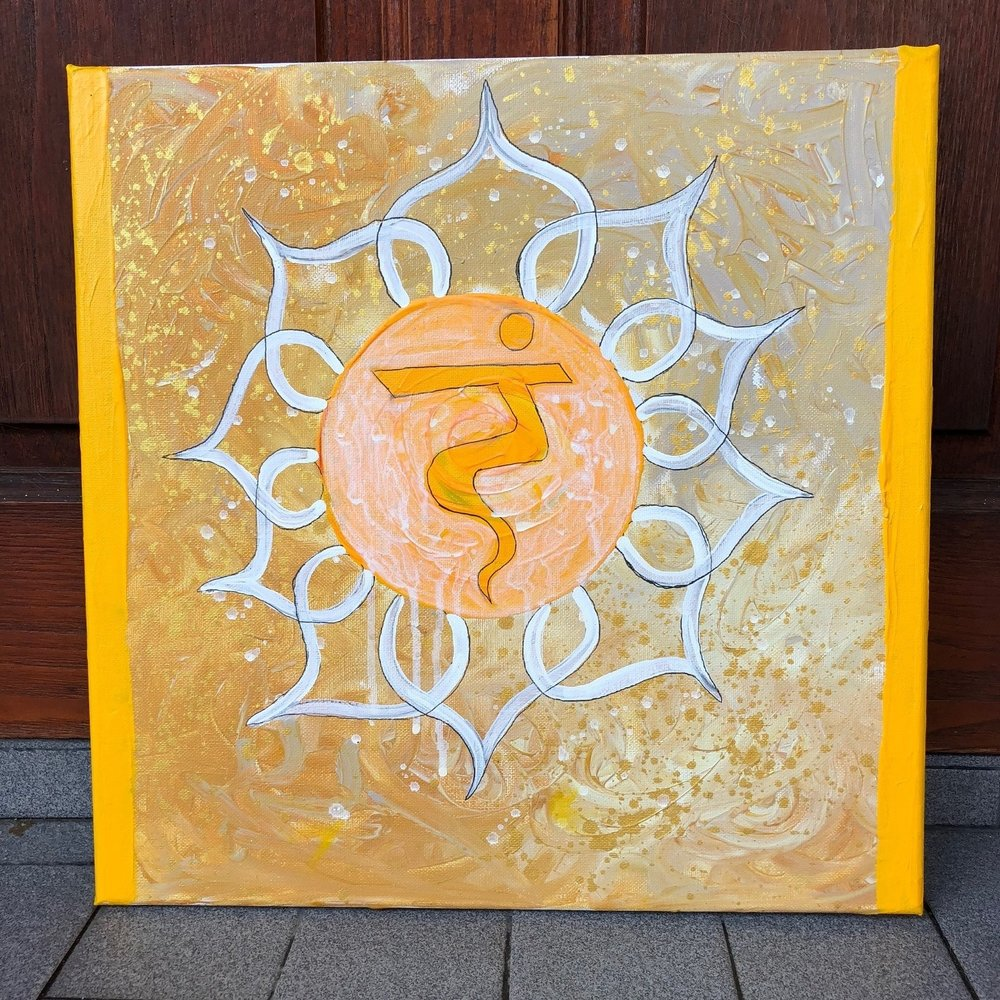 The Solar Plexus Chakra , 2018  Acrylic on Canvas 40cm x 40cm THB 3,900