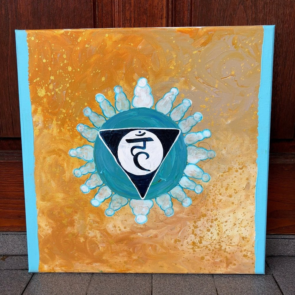 The Throat Chakra , 2018  Acrylic on Canvas 40cm x 40cm THB 3,900