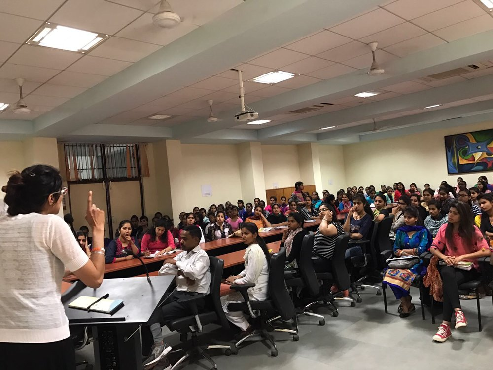 Dr. Sandhu, lecture on Alcoholism at Govt Girls College, Chandigarh
