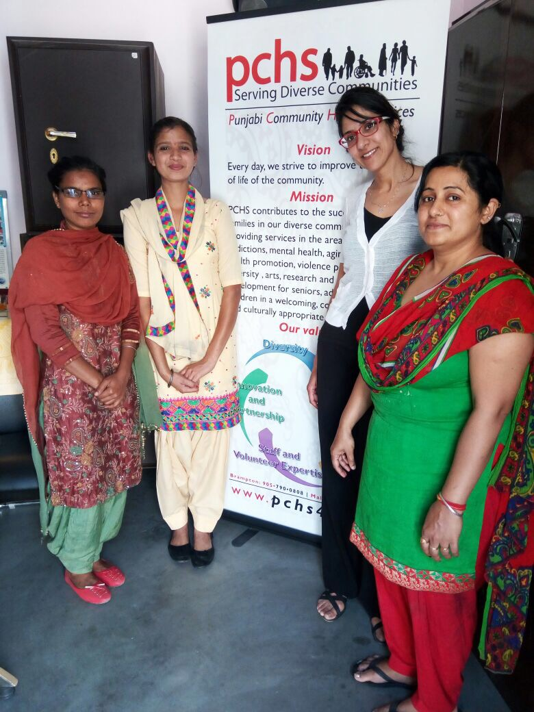 Dr. K.Sandhu with PCHS site staff in Moga, India.
