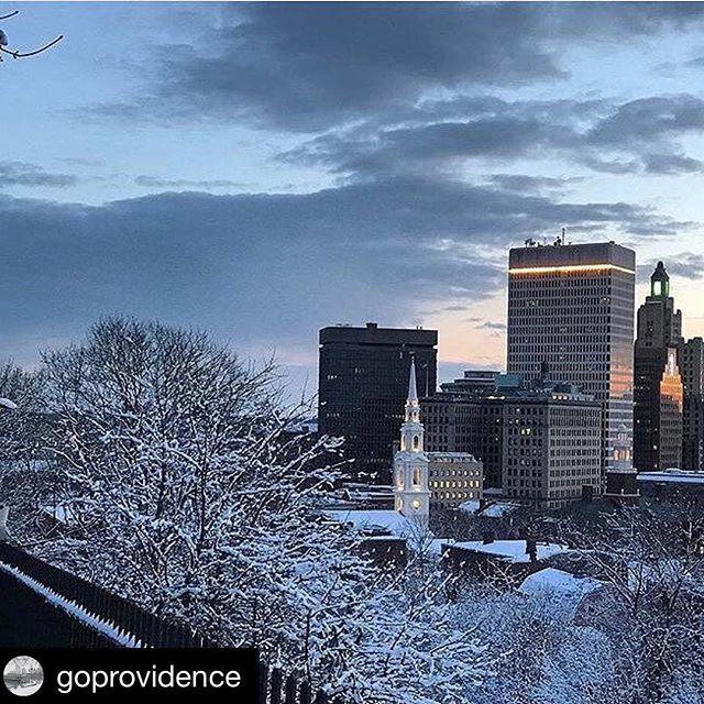#Repost @goprovidence with @repostapp ・・・ Snow capped trees and the Providence skyline at sunset...beautiful shot by @gmoniz from #prospectpark! #providence #rhodeisland #winter #newengland #snow #winterwonderland #skyline #sunset #travel #goprov #citylights #explore #view #cityscape