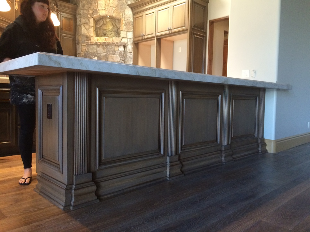 Kitchen cabinets specialty finish done all by hand