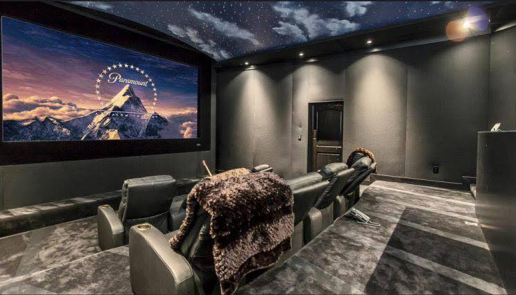 Movie theater ceiling with night sky