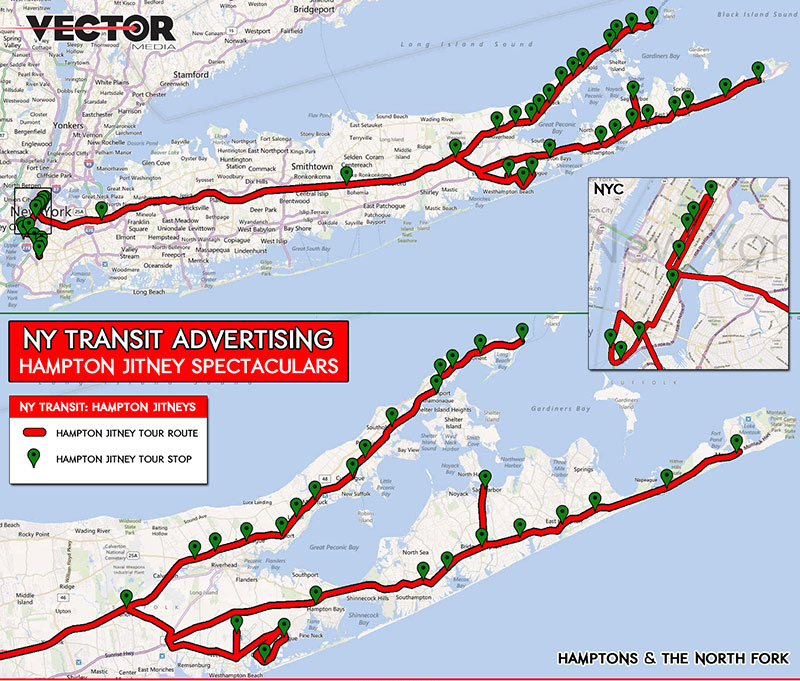 HAMPTON JITNEY TRANSIT MAP