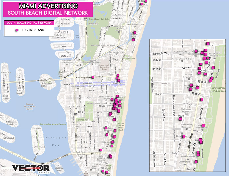 MIAMI DIGITAL KIOSK MAP