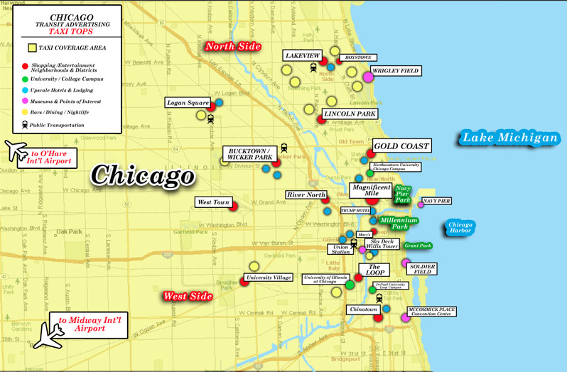 CHICAGO TAXI MAP