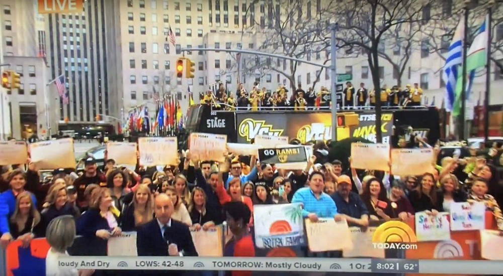 VCU Double Decker Bus Campaign Featured On Today Show