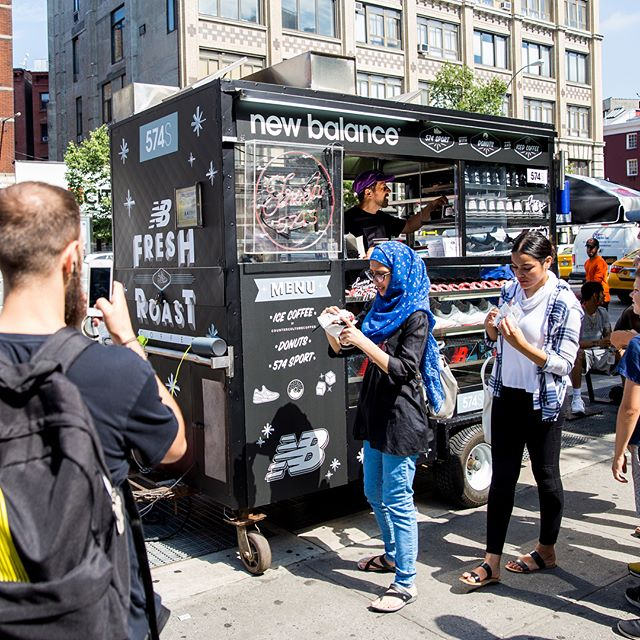 @newbalance hooked it up with 3 days of free ☕️&🍩 all around #Manhattan! #574sport