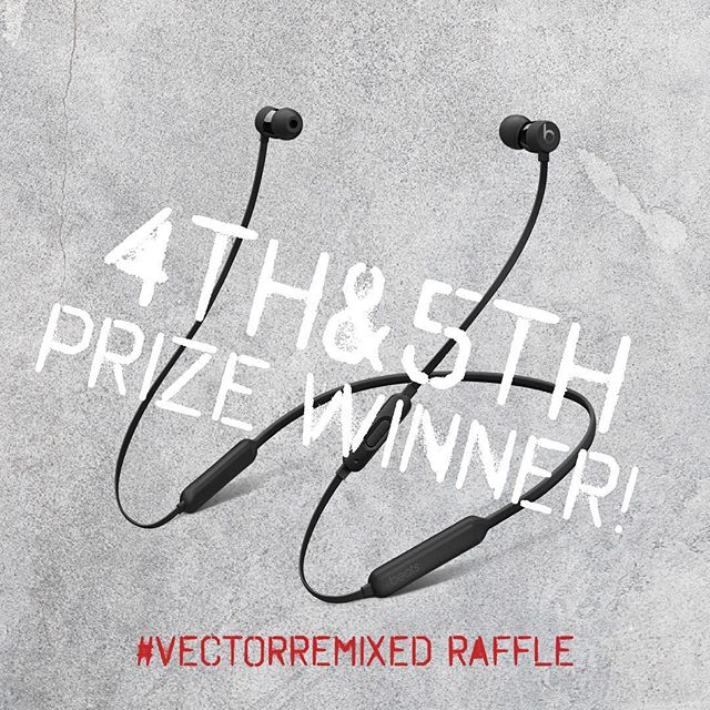 Congratulations 4th and 5th prize winners- @pjacobs926 from Nike and @dkang7 of @horizonmediainc, may Beats by Dre bless your ears this Holiday season! Thank you for coming to our #VectorRemixed party. Your prize will be hand delivered to you at your office next week. All you have to do is DM us and let us know what color you prefer. We recommend blasting some DMX tunes in your BeatsX earphones to celebrate your raffle win! 💫