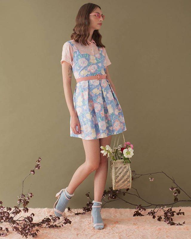 El vestido Mía es de algodón 100% y está estampado por serigrafía. ❤️ ya está online en los tres talles!