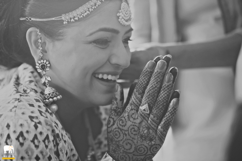 LAUGHING INDIAN BRIDE