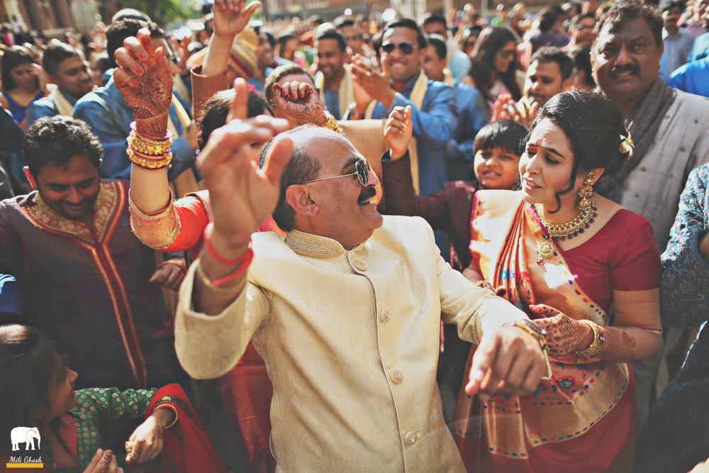 FAMILY CELEBRATING AT BARAAT