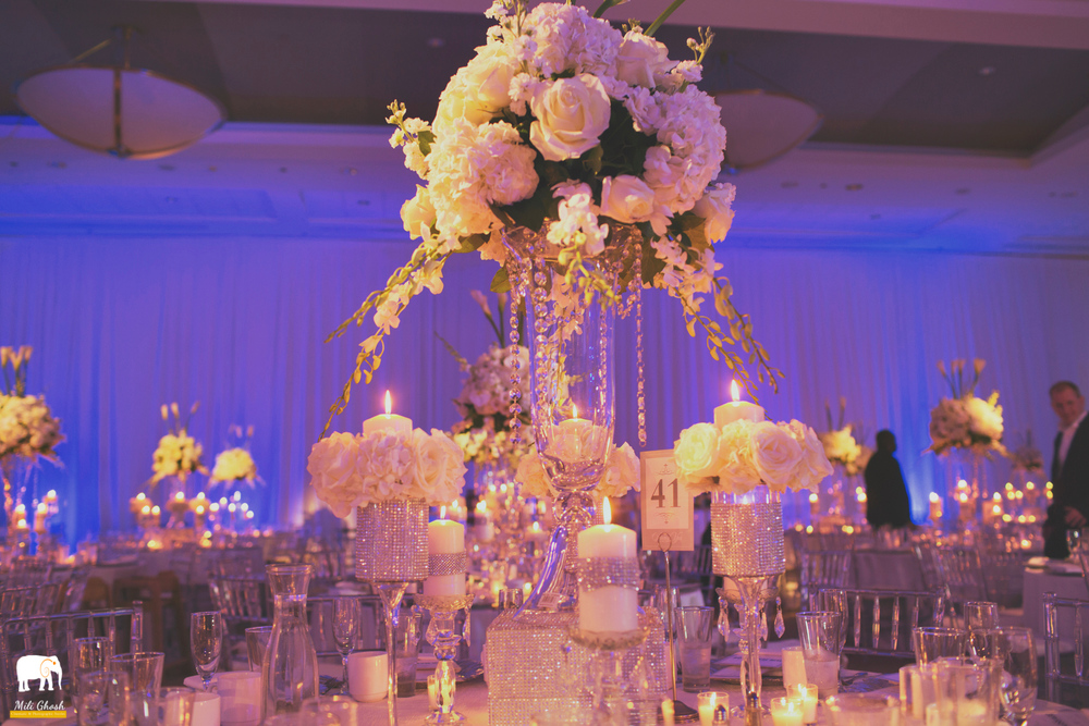 WHITE RECEPTION FLOWERS