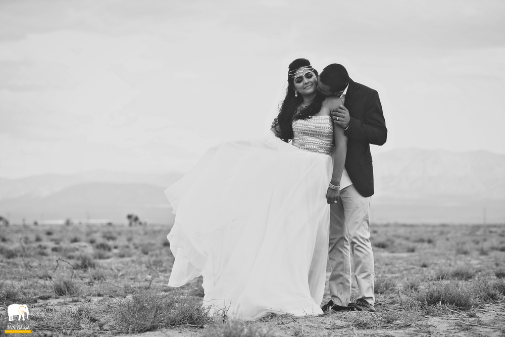 BRIDE AND GROOM BW