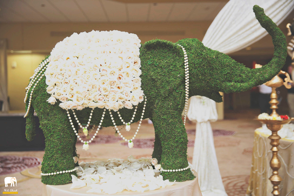 MOSS AND FLORAL ELEPHANT
