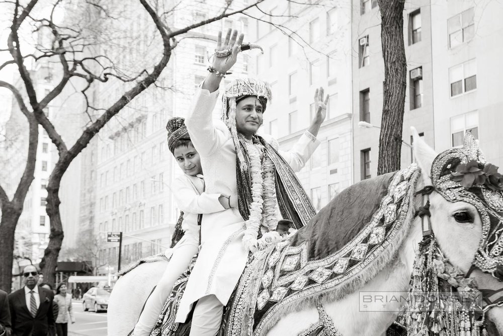 groom at baraat
