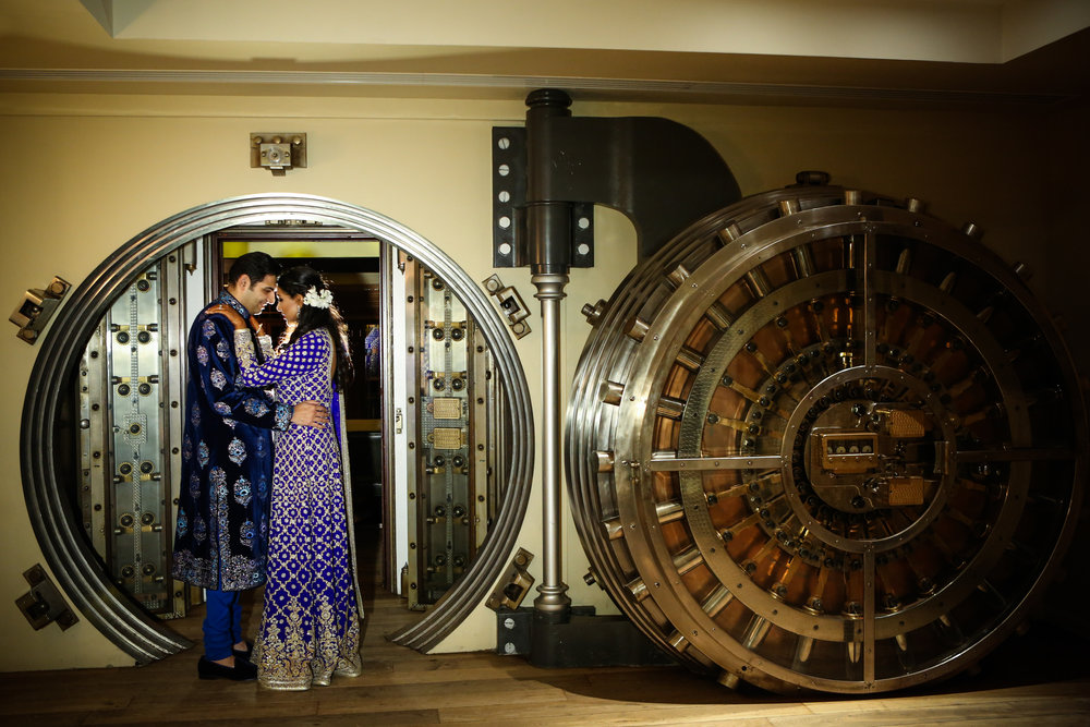 Indian Couple and Large Safe