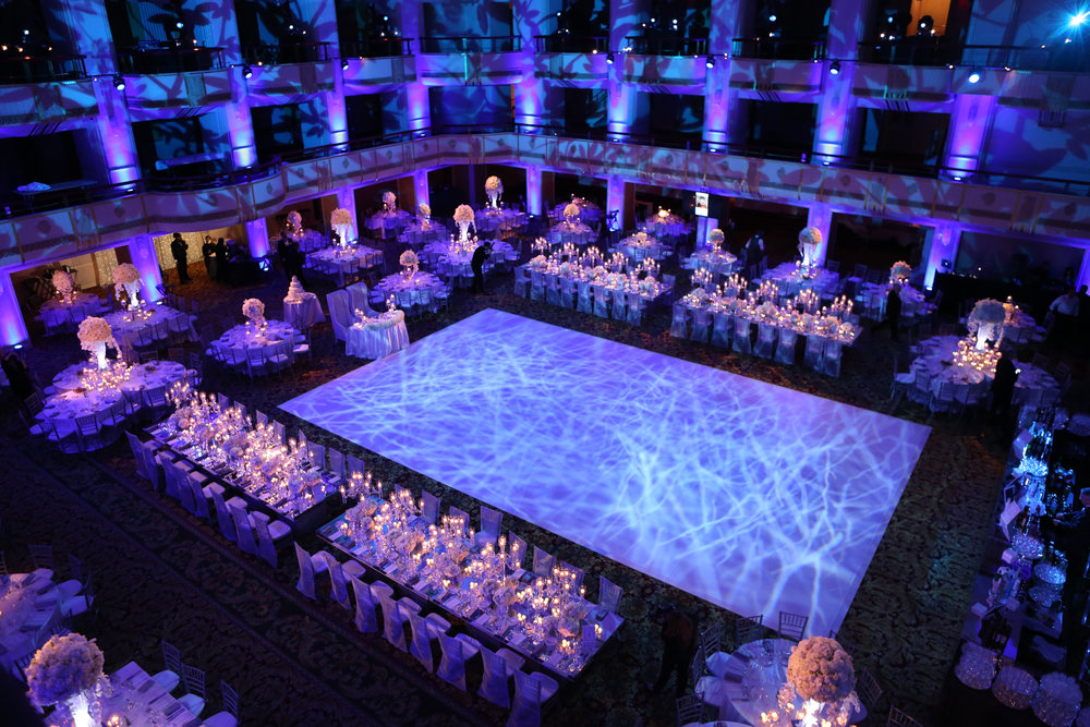 Dance floor and head table