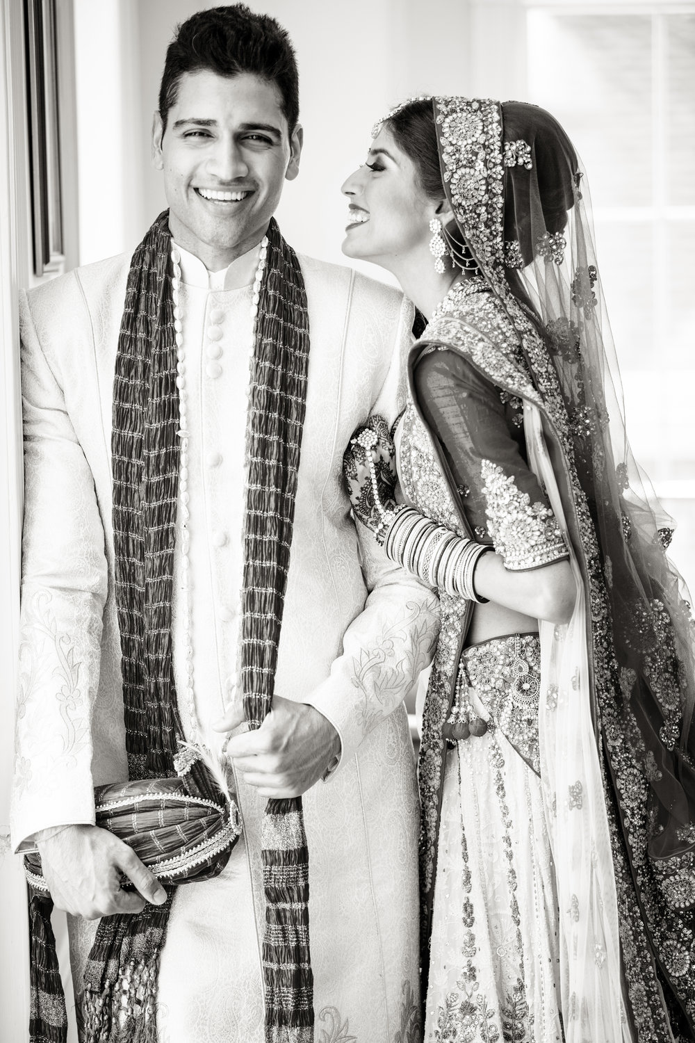 Indian couple smiling