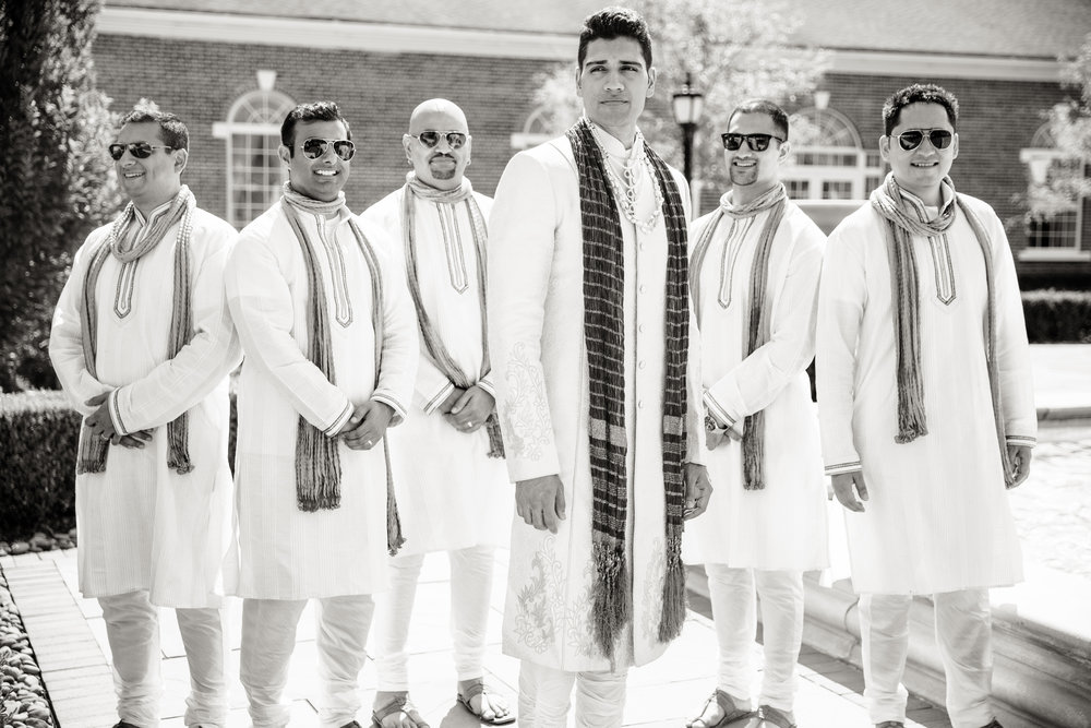 groomsmen at ceremony