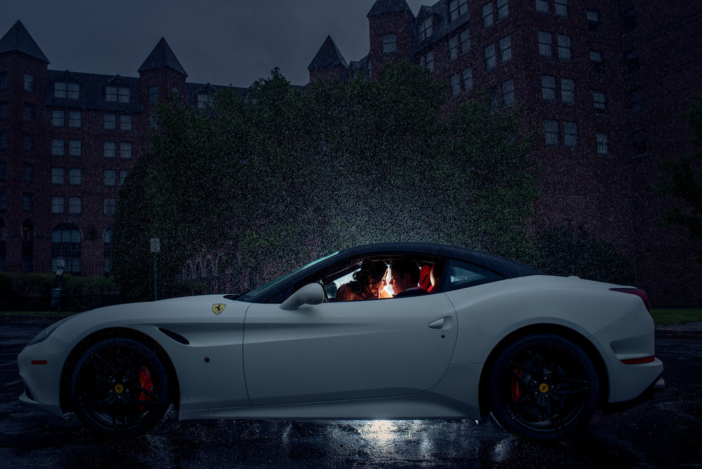 COUPLE IN FERRARI