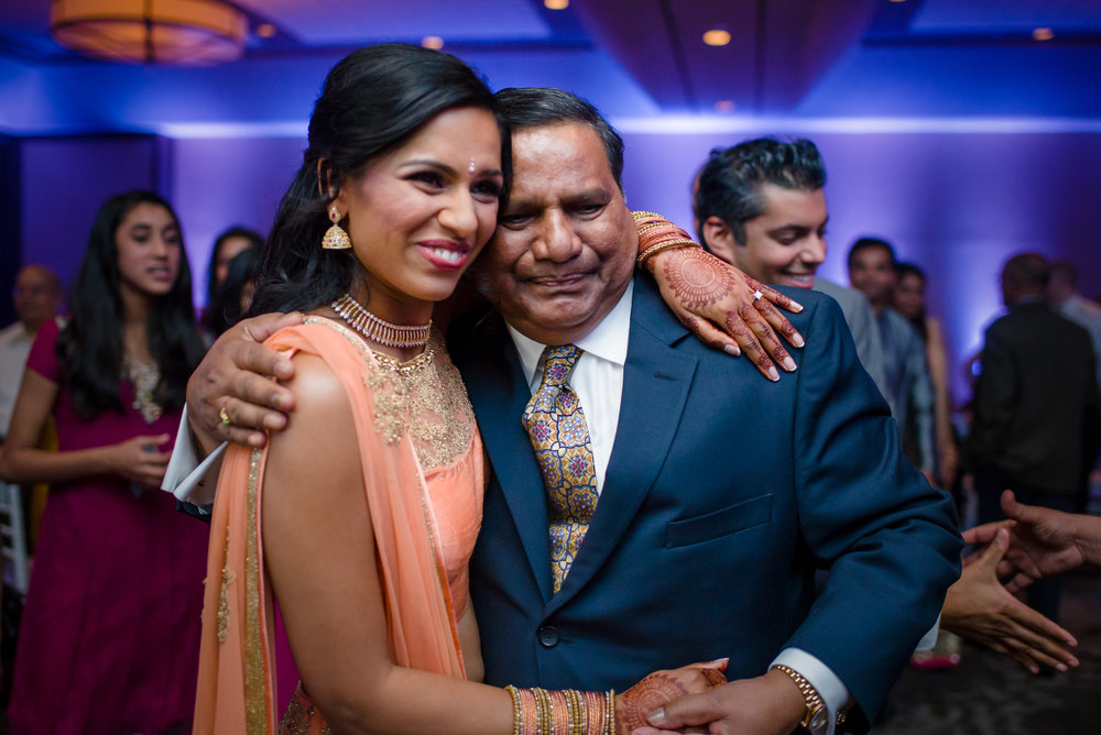 FATHER AND BRIDE AT SANGEET