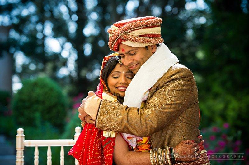 VERY HAPPY COUPLE AT WEDDING CEREMONY