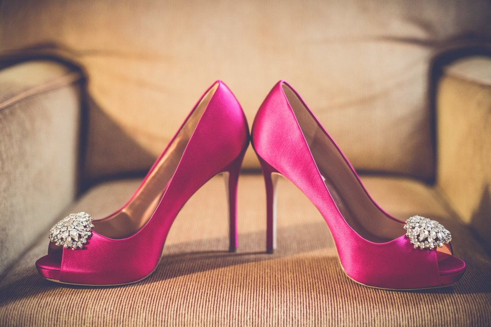 PINK RHINESTONE SHOES