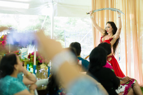jpg indian bridal shower boho chic summer tent event with dancer 6