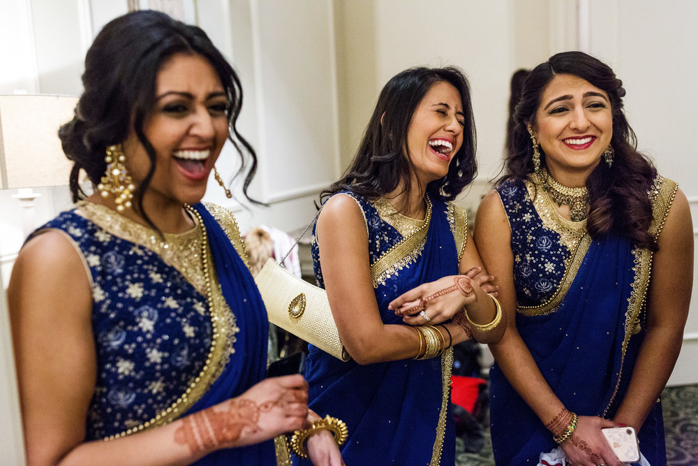 INDIAN WEDDING BRIDESMAIDS LAUGHING.JPG