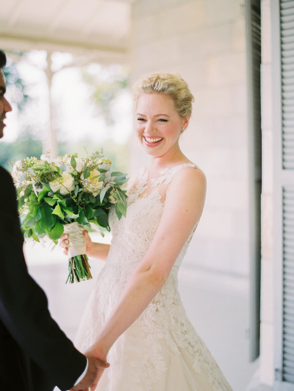 Blushing Bride at Luxury Wedding