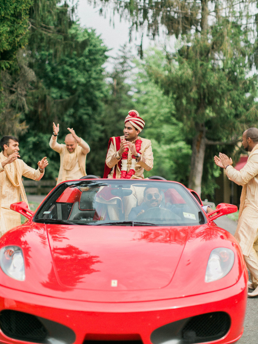 Indian Groom in Sports Car during Baraat.jpg