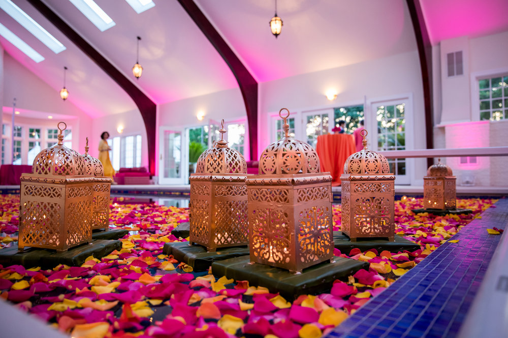 INDIAN WEDDING SANGEET FLORAL POOL LANTERN.jpg.jpg