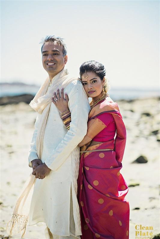 INDIAN WEDDING BRIDE AND GROOM CLOSEUP ON BEACH.jpg
