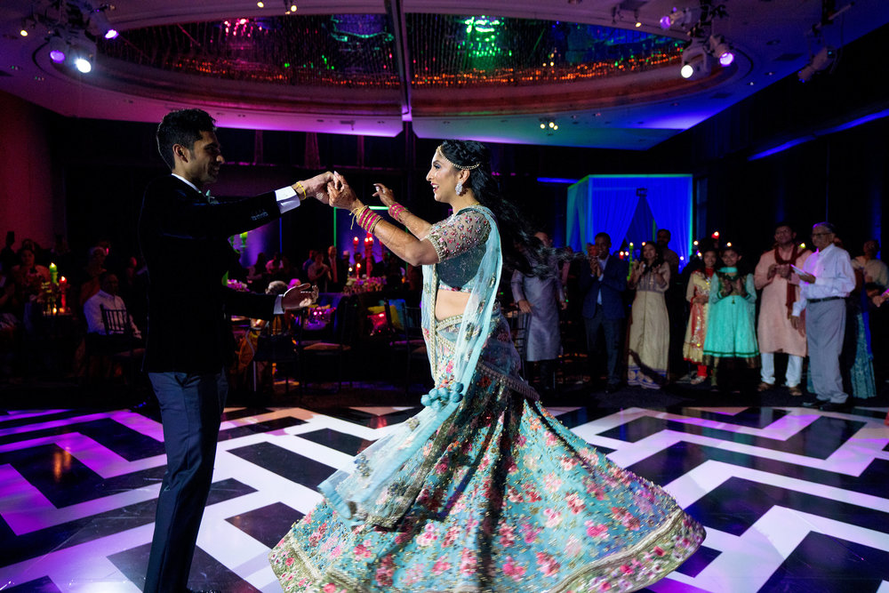 INDIAN WEDDING BRIDE AND GROOM RECEPTION DANCE.JPG