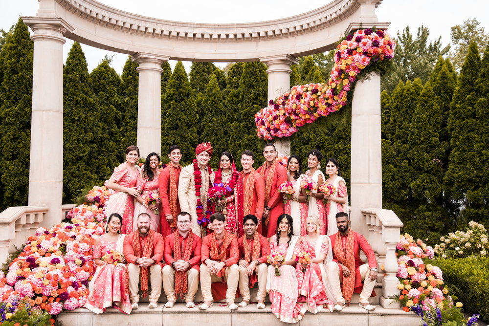 INDIAN WEDDING BRIDE AND GROOM WITH WEDDING PARTY.jpg