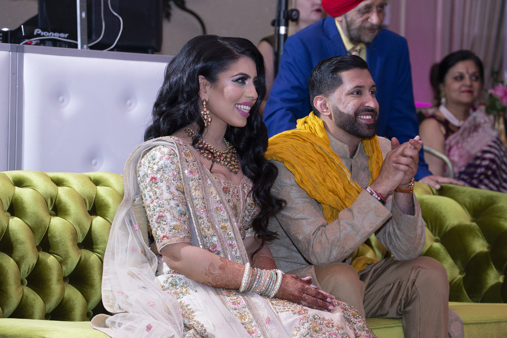 INDIAN WEDDING SANGEET BRIDE AND GROOM 2.JPG