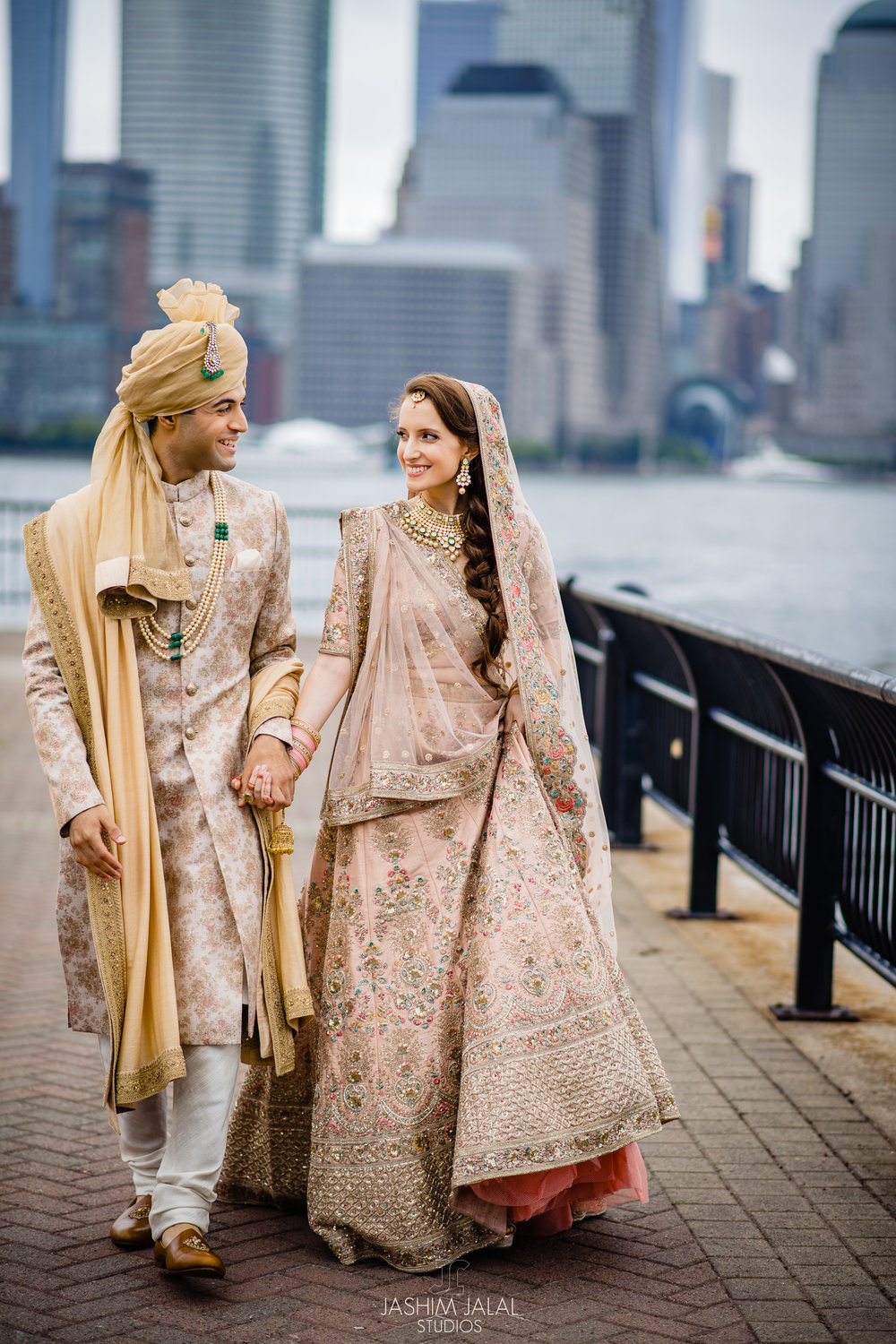 INDIAN WEDDING BRIDE AND GROOM WALKING.jpg