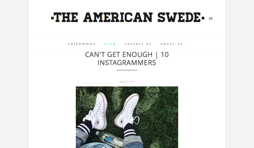 Can't Get Enough   10 Instagrammers  THE AMERICAN SWEDE