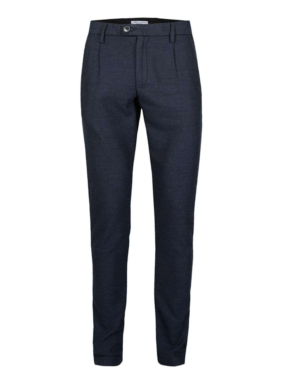 Navy Textured Dress Pants