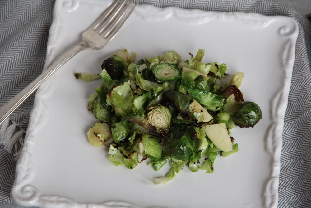 Roasted Brussels Sprouts & Apple