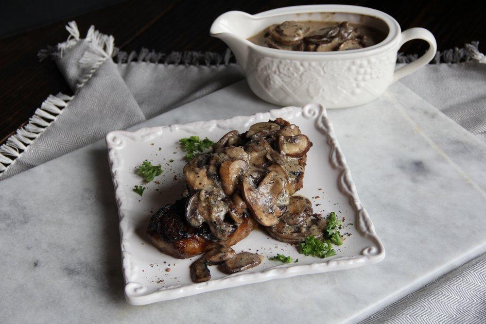 Creamy Pepper Mushroom Steak Sauce
