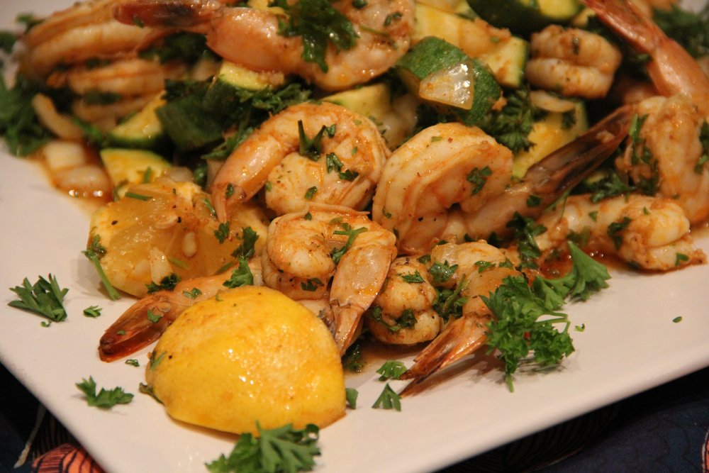 Chermoula Shrimp