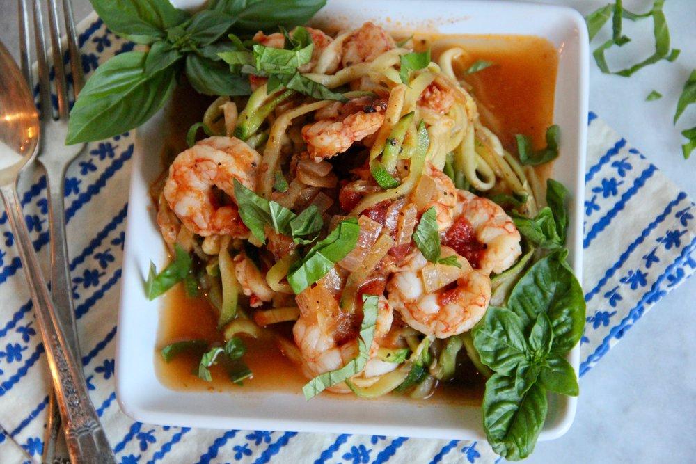 """Shrimp & Zucchini """"Pasta"""""""
