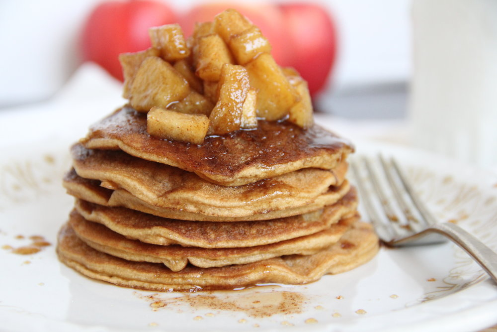Pancakes with Apple Cinnamon Maple Syrup