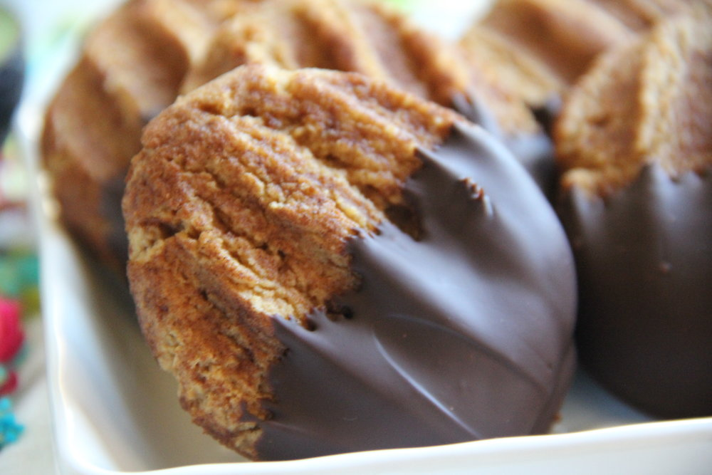 chocolate dipped churro cookies