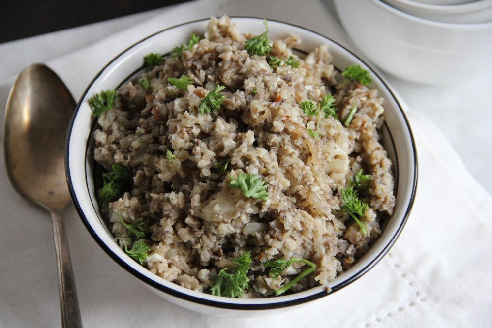 Cauliflower Risotto {Vegan}