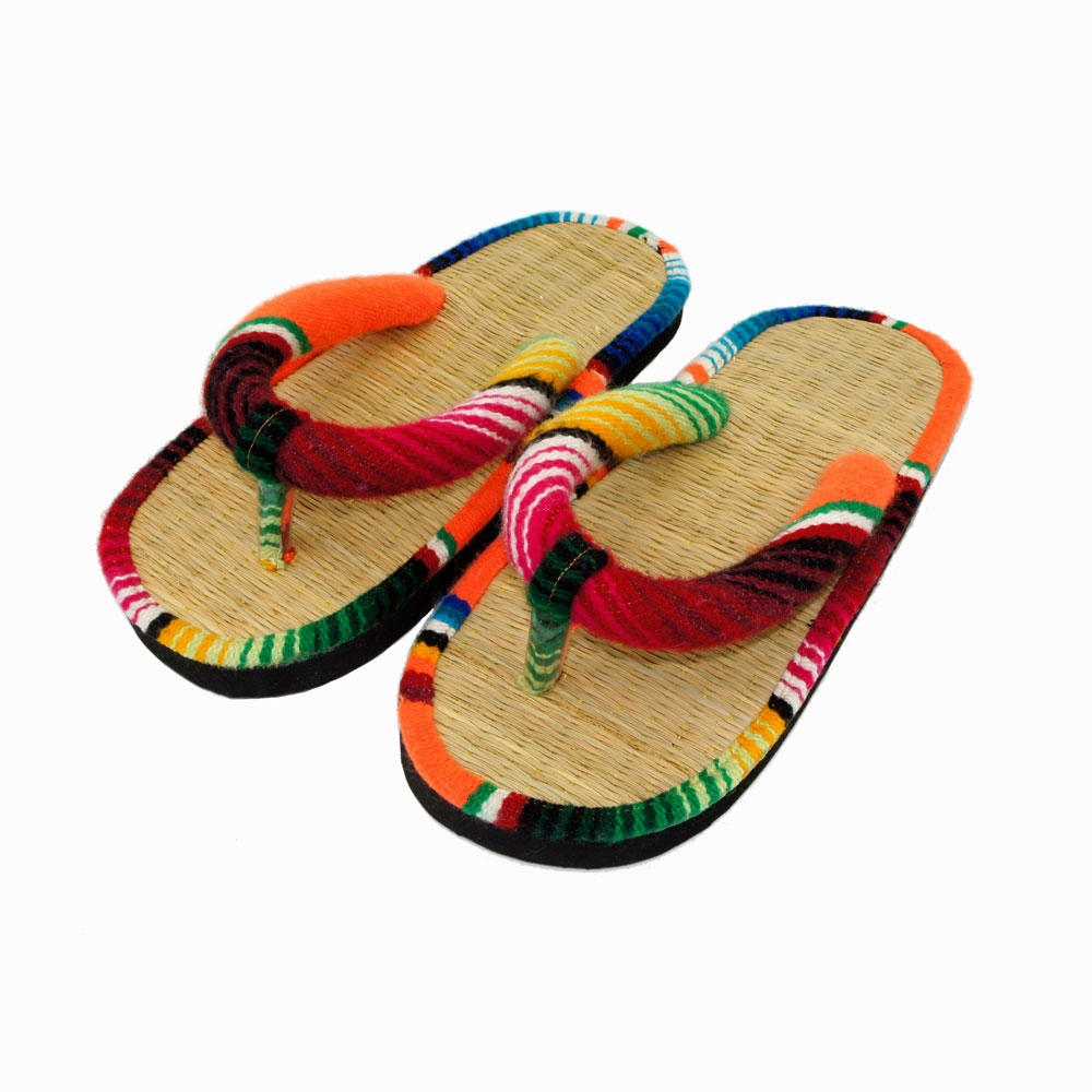 cd2e92d073aa SERAPE TATAMI FLIP FLOP (ORANGE)